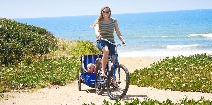 Koppla på en Thule vagn till cykeln!